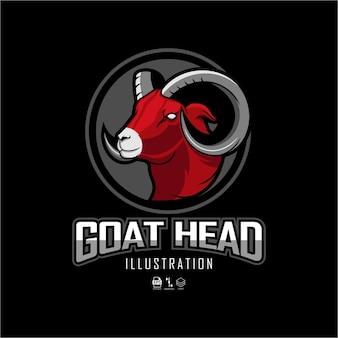 Ilustracja koziej głowy z czarnym tło