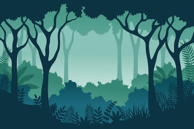 Ilustracja krajobraz dżungli