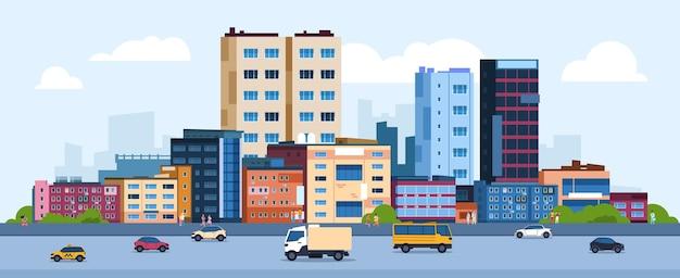 Ilustracja krajobraz miejski