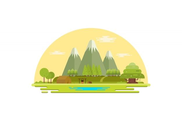 Ilustracja krajobrazu