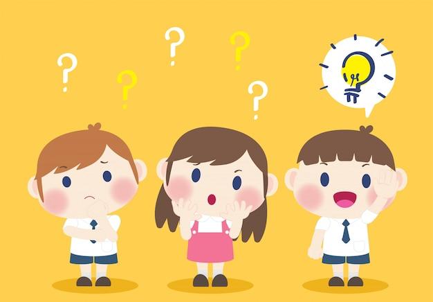 Ilustracja kreatywny pomysł odpowiedzi