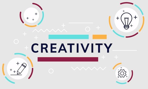Ilustracja kreatywnych projektów graficznych