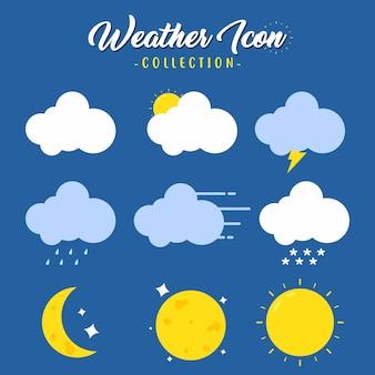 Ilustracja kreatywnych różnych pogody