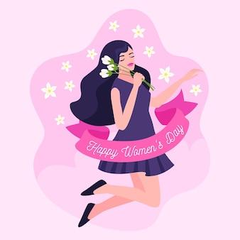 Ilustracja kreatywnych rysowane międzynarodowy dzień kobiet