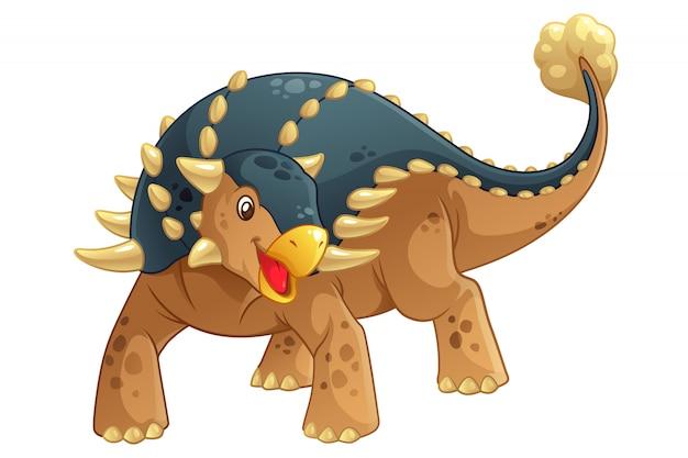 Ilustracja kreskówka ankylozaura