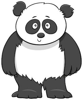 Ilustracja kreskówka cute baby panda
