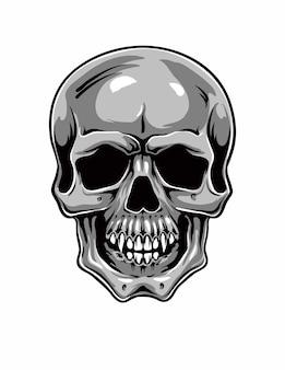 Ilustracja kreskówka czaszki