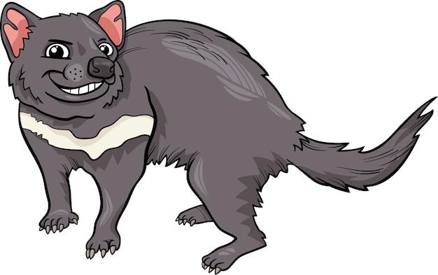Ilustracja kreskówka diabeł tasmański
