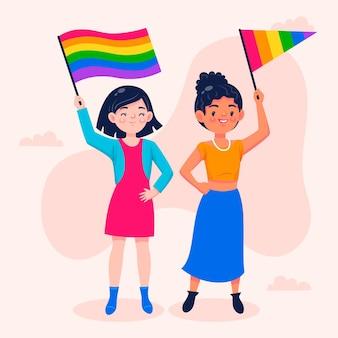 Ilustracja kreskówka dzień dumy