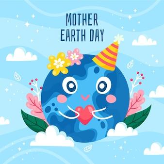 Ilustracja Kreskówka Dzień Matki Ziemi Darmowych Wektorów