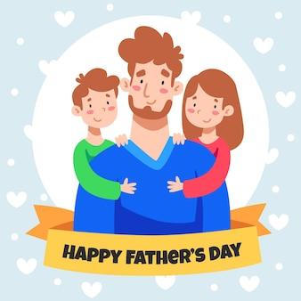 Ilustracja kreskówka dzień ojca