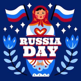 Ilustracja kreskówka dzień rosji