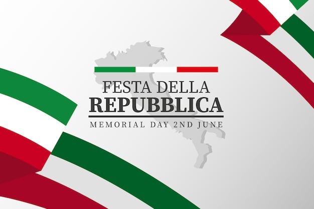 Ilustracja kreskówka festa della repubblica