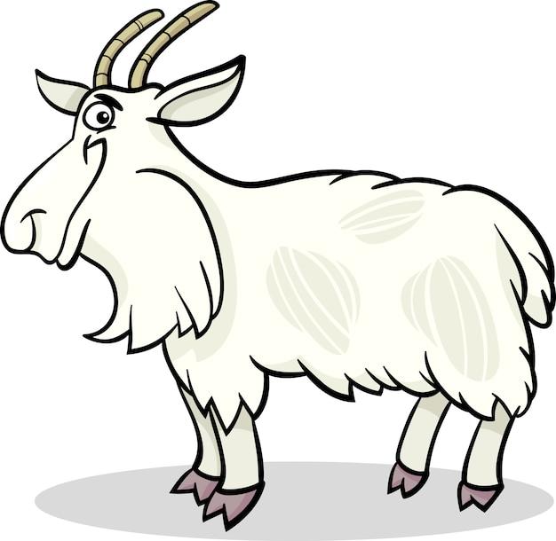Ilustracja kreskówka gospodarstwo ilustracja kozy