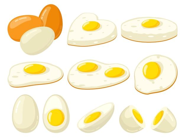 Ilustracja kreskówka gotowane jajka