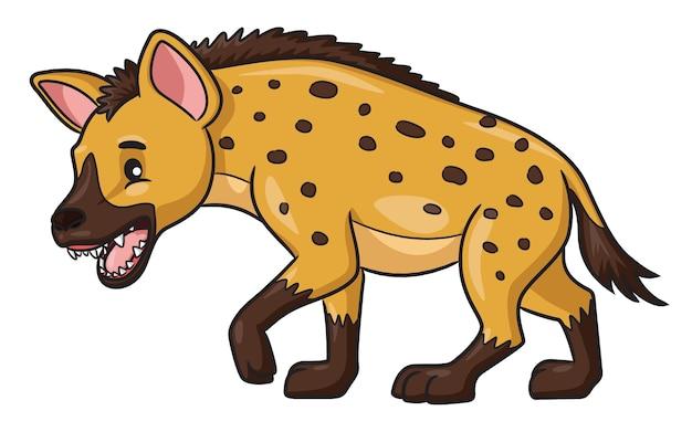 Ilustracja kreskówka hiena