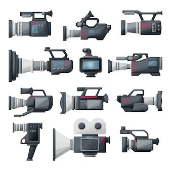 Ilustracja kreskówka kamera wideo