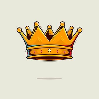 Ilustracja kreskówka korony