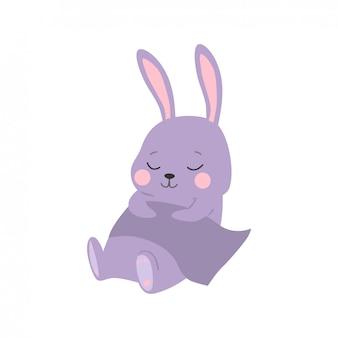 Ilustracja kreskówka królika