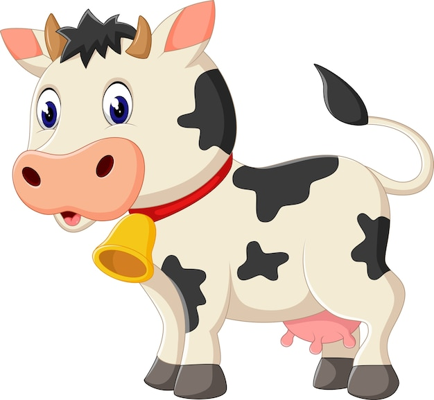 Ilustracja kreskówka krowa ładny