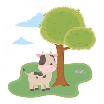 Ilustracja kreskówka krowa wektor