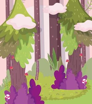 Ilustracja kreskówka las