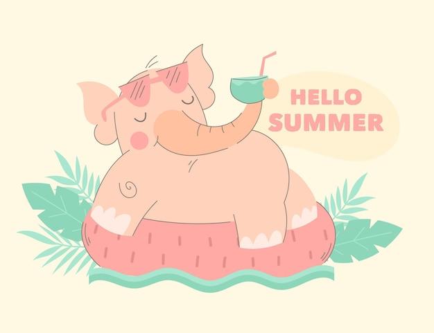 Ilustracja kreskówka lato