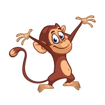 Ilustracja kreskówka małpa