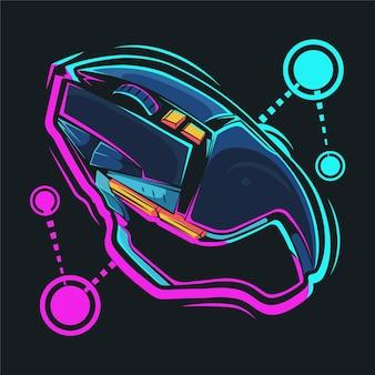 Ilustracja kreskówka myszy do gier premium wektorów