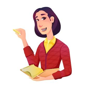 Ilustracja kreskówka nauczyciela