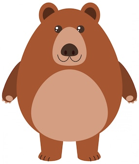 Ilustracja kreskówka niedźwiedź grizzly