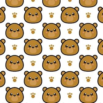 Ilustracja kreskówka niedźwiedź wzór