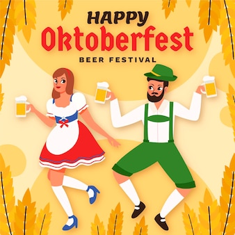 Ilustracja kreskówka oktoberfest