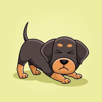Ilustracja kreskówka pies