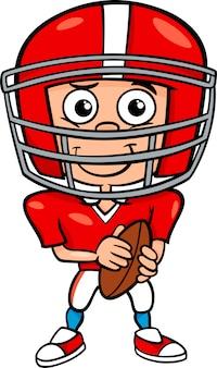 Ilustracja kreskówka piłkarz chłopiec