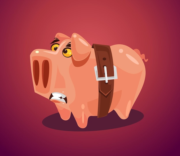 Ilustracja kreskówka płaski koncepcja spadku gospodarczego