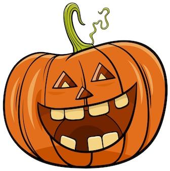 Ilustracja kreskówka postać dyni halloween