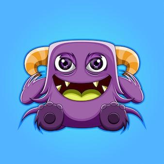 Ilustracja kreskówka potwór