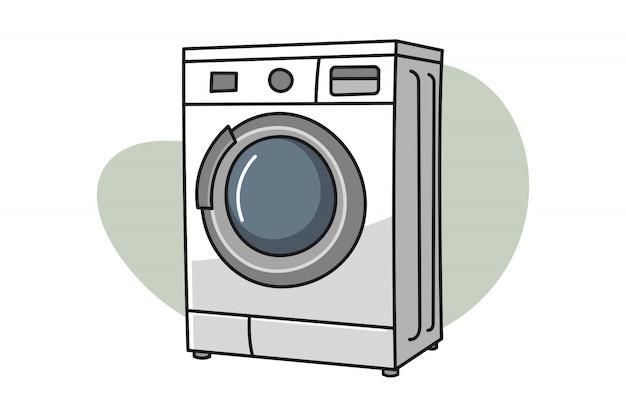 Ilustracja kreskówka pralka