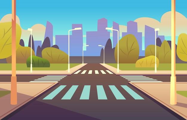 Ilustracja kreskówka przejście dla pieszych