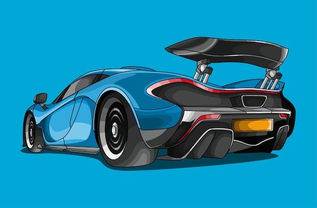 Ilustracja kreskówka samochód sportowy