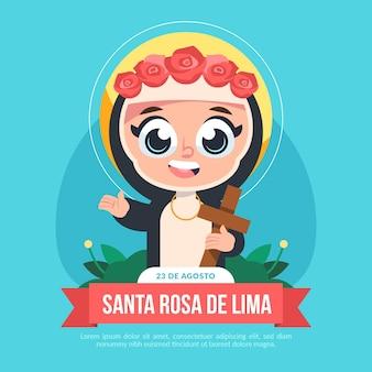 Ilustracja kreskówka santa rosa de lima