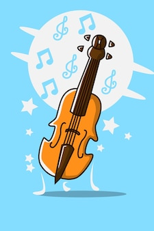 Ilustracja kreskówka skrzypce