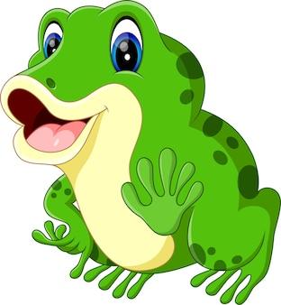 Ilustracja kreskówka słodka żaba