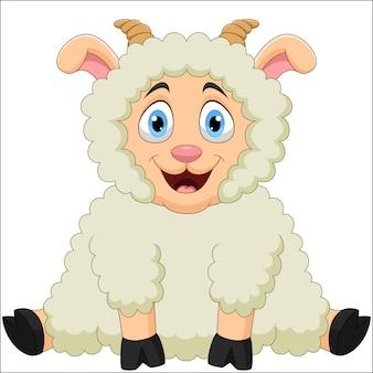 Ilustracja kreskówka śmieszne owiec