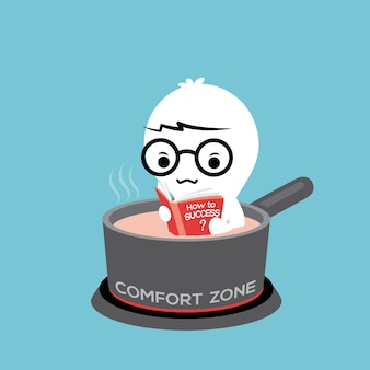 Ilustracja kreskówka strefy komfortu