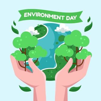 Ilustracja kreskówka światowy dzień środowiska