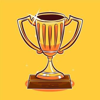Ilustracja kreskówka trofeum