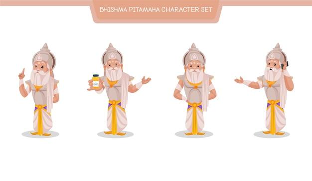 Ilustracja kreskówka zestaw znaków bhishma pitamaha