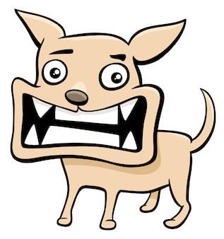 Ilustracja kreskówka zły szczeniak